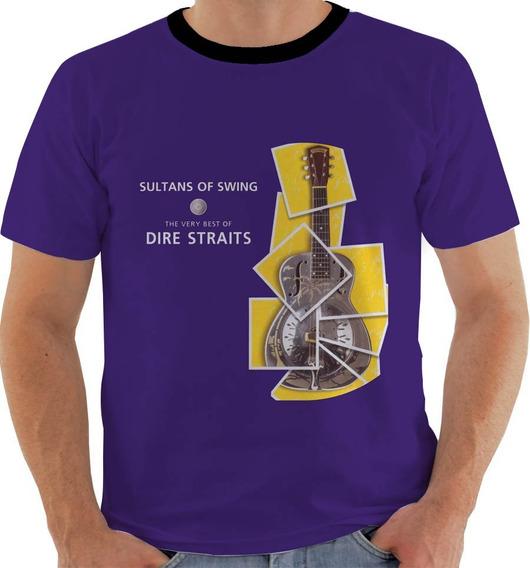 Camiseta 7332 Ou Baby Look Ou Regata Band Rock Dire Straits