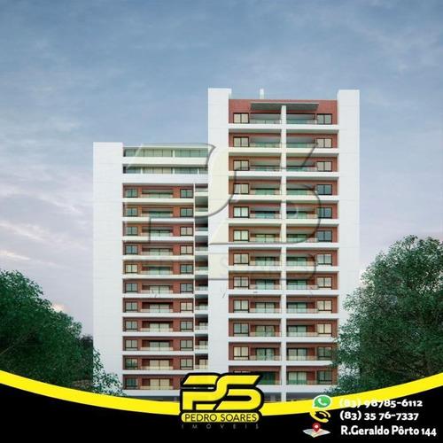 Apartamento Com 1 Dormitório À Venda, 54 M² Por R$ 289.000,00 - Cabo Branco - João Pessoa/pb - Ap2424