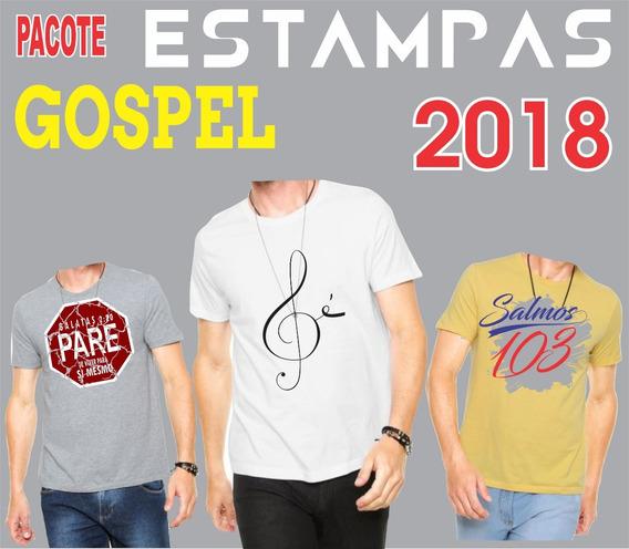 Estampas Gospel 2018 Vetores Evangélicas