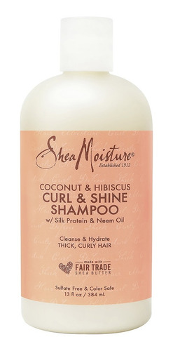 Shea Moisture Shampoo Cabello Rizado Ondulado A Base De Coco