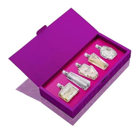 Estojo Coleção Estrelas 5 Miniaturas Femininas Perfumes