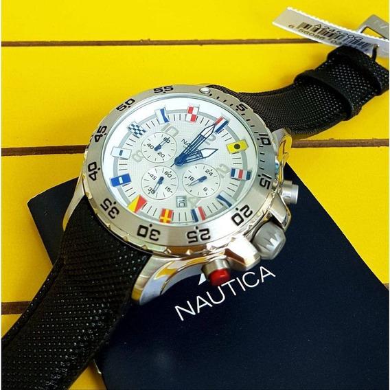 Relógio Nautica Bandeiras A24520g, Na Caixa. 100% Original.