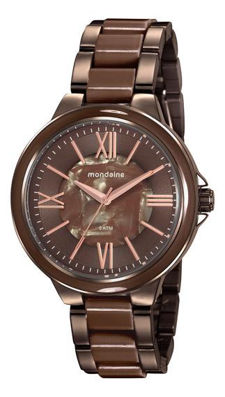 Relógio Mondaine Feminino Chocolate 76734lpmvme3