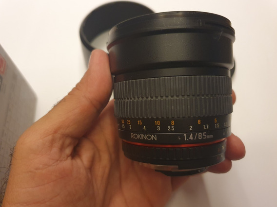 Lente Rokinon 85mm F/1.4 Fx Para Nikon (manual)