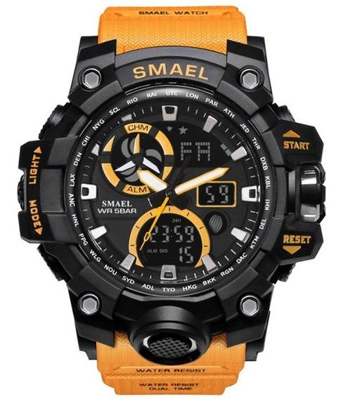 Relógio Esportivo Masculino Smael 1545c Frete Grátis