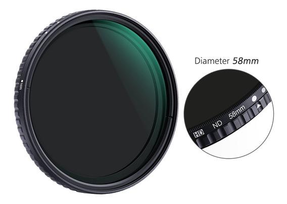 K&f Concept 58mm Ultra-fino Ajustável Variável Neutra