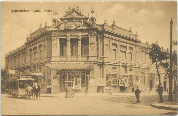 Antigua Postal Teatro Urquiza, Uruguay