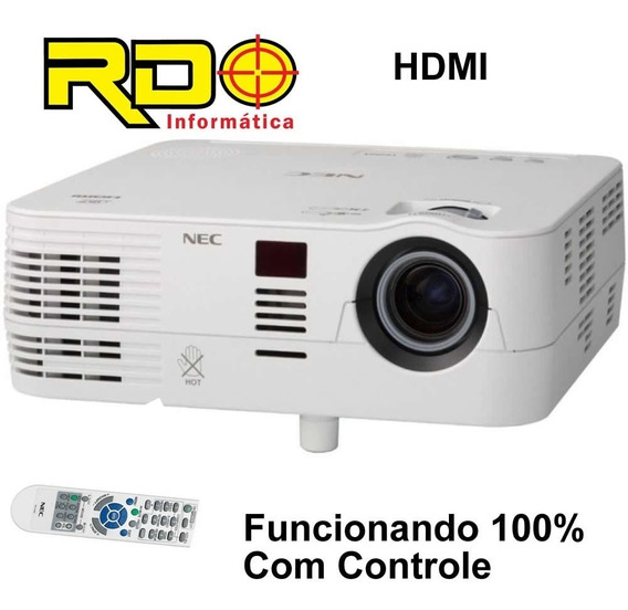 Projetor Nec Ve282 Hdmi 2800 Lumiens Com Controle