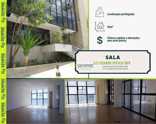 Imagem 1 de 18 de Sala Para Alugar, 45 M² - Luxemburgo - Belo Horizonte/mg - Sa0054