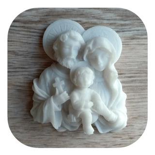 Sagrada Família Resplendor Aplique Em Resina 8cm (20 Unid)