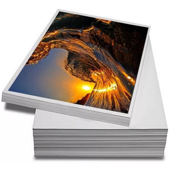 Papel A4 Fotográfico Adesivo 115g Caixa 300 Folhas + Brinde
