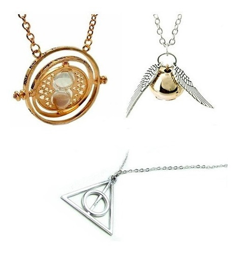 3 Collares Giratiempo Reliquias Snitch - Oferta Harry Potter