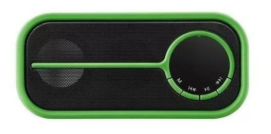 Caixa De Som Bluetooth Pulse Color Series Verde Sp208 Bivolt