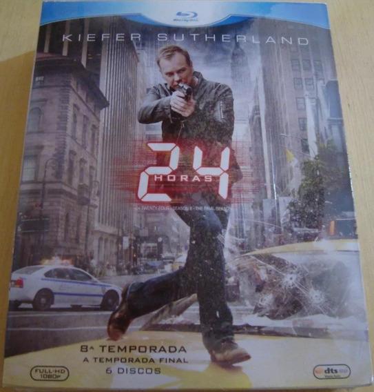 Box Blu-ray 24 Horas 7º + 8º Temporada Original - 12 Discos