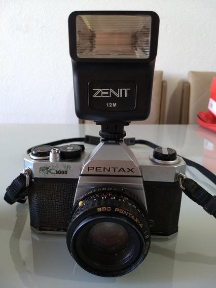 Câmera Antiga Zenit Pentax K1000 Raridade - Tipo Canon Nikon