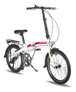Bicicleta Plegable Aluminio Liviana 7 Cambios. Newton
