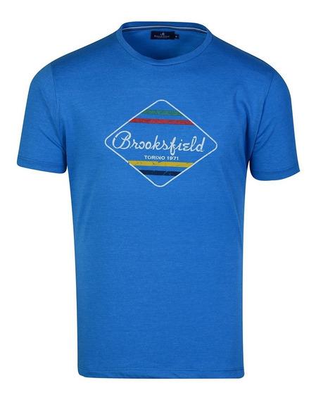 Remera Hombre Algodon Premium Estampada Moda Brooksfield D5