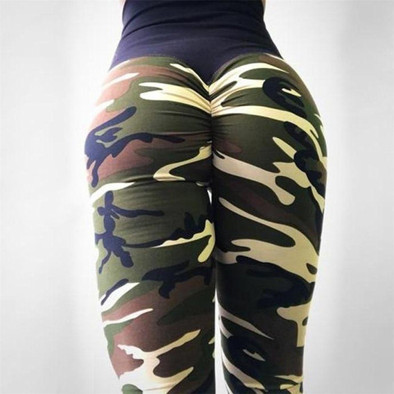 Pantalones Yoga Impreso Polainas Deporte Pantalones Largo