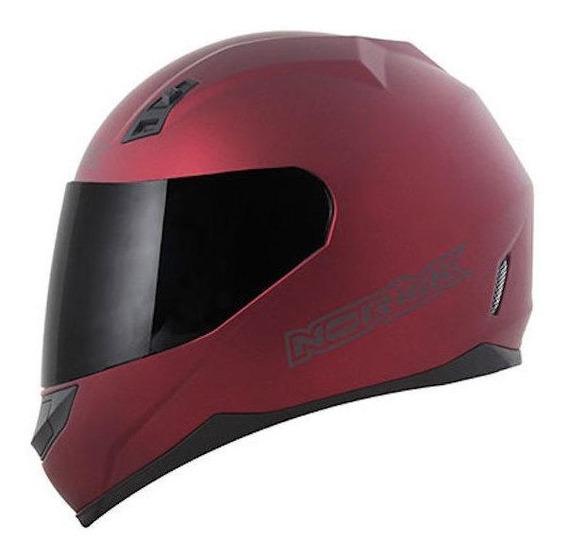 Capacete para moto integral Norisk FF391 Monocolor matt black/red S