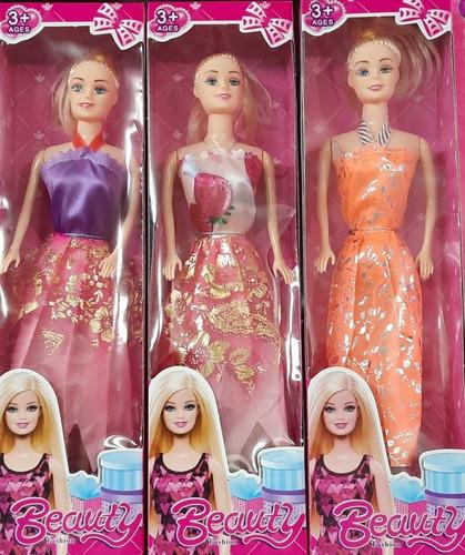 Muñeca Barbie Tipo Simil Articulada X1 Con Vestido