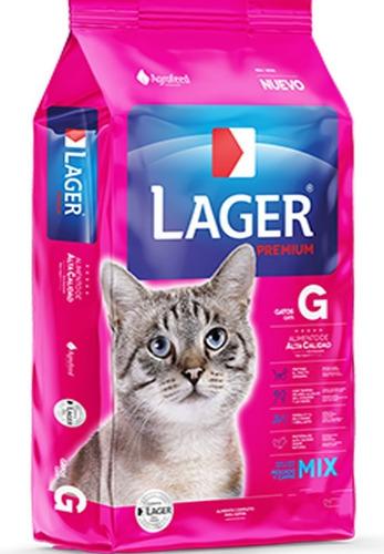 Imagen 1 de 2 de Comida De Gato Adulto Lager 10 Kg + Obsequio + Envio