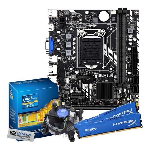 Imagem 1 de 6 de Kit Intelcore I5 3470 3.6ghz + Placa Lga1155 + 16gb + Cooler
