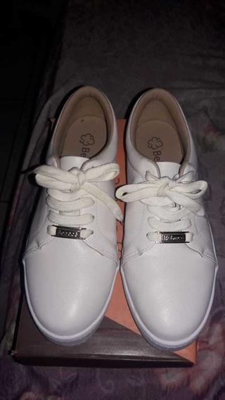 Tenis Branco Bebece Tam 37
