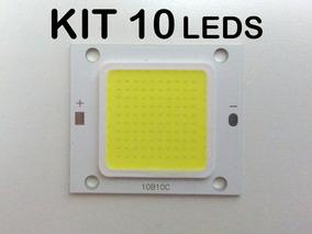 Kit 10un Chip Led 50w Cob P/ Refletor Branco Frio 6500k