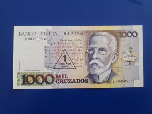 Imagen 1 de 3 de Billete Unc Brasil 1000 Cruzados