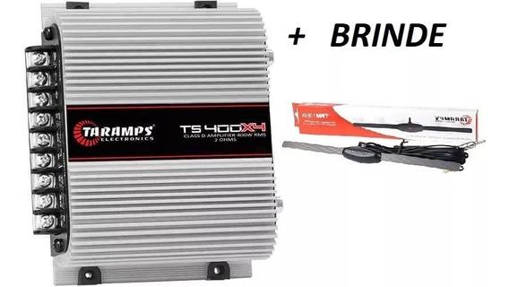 Modulo Ts400 Digital 4 Canais 400w Rms+ Antena Taramps