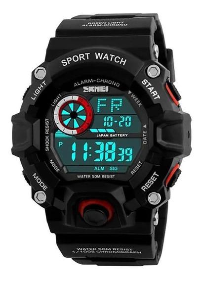 Relógio De Pulso, Masculino,vermelho, Esportivo, Skmei.