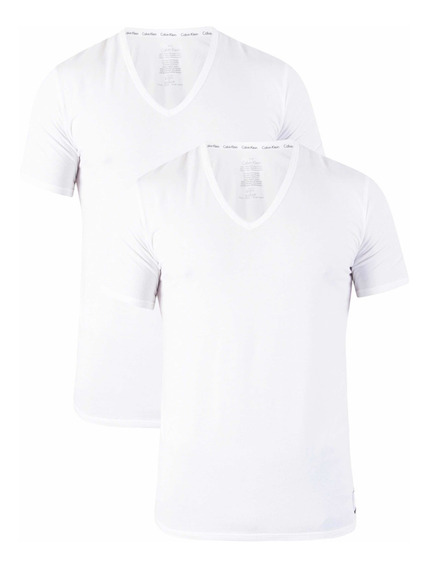 Camiseta Calvin Klein Id 2 Pack Original Playera Hombre