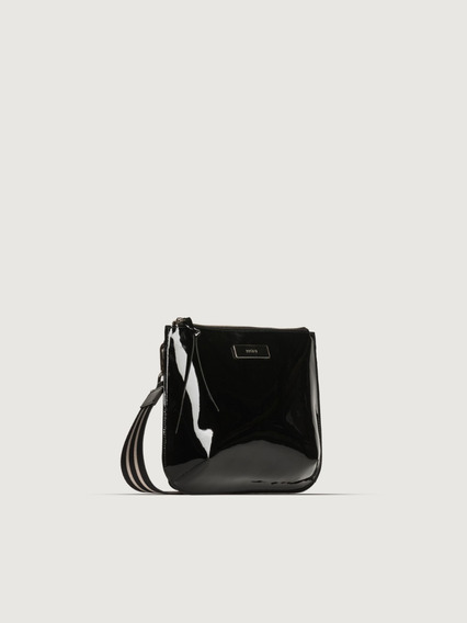 Morral Laly Negro Charol Prune