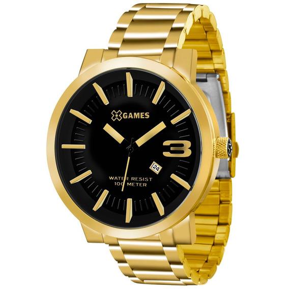 Relógio X-games Masculino Xteel Dourado Xmgs1007-p2kx