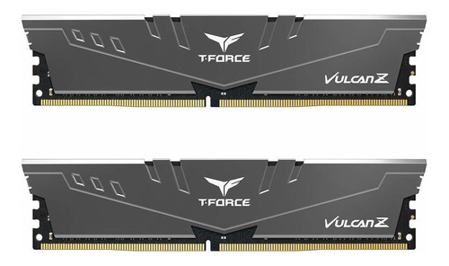 Memoria Ram 16gb Teamgroup T-force Vulcan Z Ddr4 Kit (2 X 8gb) 3200mhz (pc4 25600) Cl16 Modulo - Gray - Tlzgd416g3200hc1