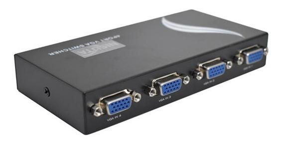 Switch 4 Puertos Vga Nisuta Ns-swvg2 Manual 4 Pc 1 Monitor