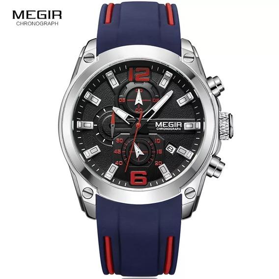 Megir, Relógio Esportivo Ao Quartzo.
