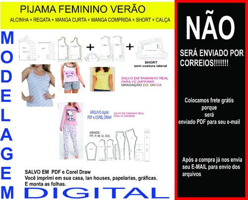 Mode Pijama Alça+ Regata+manga Curta+m.comprida+calça+short