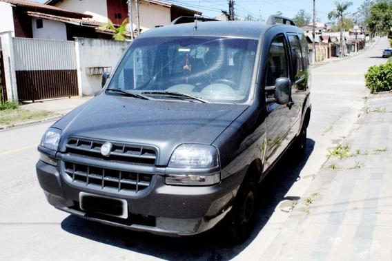 Fiat Doblò Elx 2002 1.6 Cinza 7 Lugares