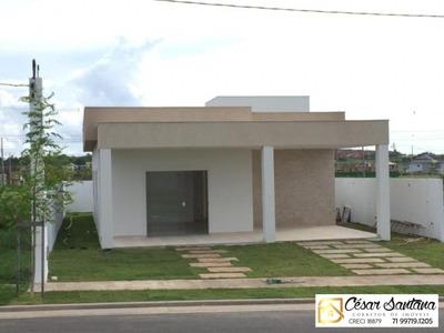 Casa 3/4, Terras Alphaville Camaçari Para Locação R$:1.900 - Ca00482 - 34079008