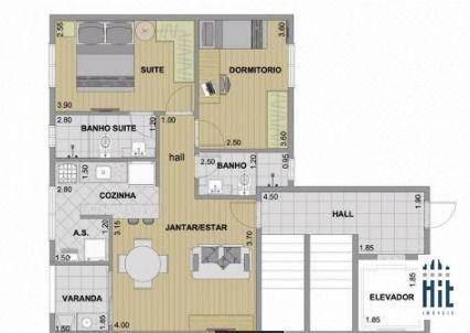 Imagem 1 de 12 de Apartamento Com 2 Dormitórios À Venda, 57 M² Por R$ 320.000,00 - Paulicéia - São Bernardo Do Campo/sp - Ap4300