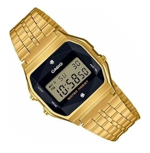 Relógio Feminino Casio Vintage Digital A159wged-1df -dourado