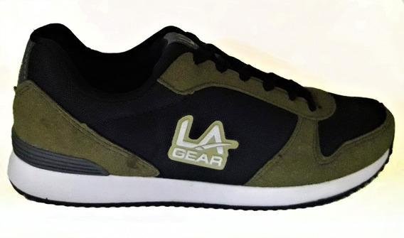 Zapatillas La Gear Collins Oliva/negro/gris Sport Town
