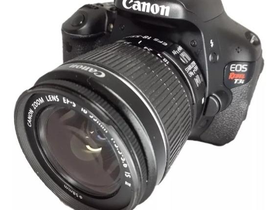 Câmera Canon T3i + Lente 18-55 Seminova + Carta Sd 32gb