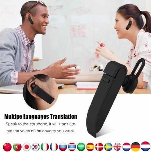 Fone De Ouvido Tradutor De Voz Inteligente Google Tradução Simultânea Peiko 25 Linguás Idiomas iPhone Android Promoção