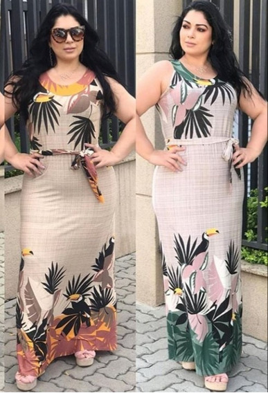Vestido Estampado Longo Roupas Femininas Gg