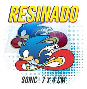 Adesivo Resinado Sonic Mega Drive Moto Carro Capacete 2uni