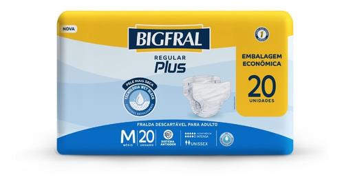 Imagem 1 de 5 de Fralda Bigfral Regular Plus Tamanho M - 20 Unidades