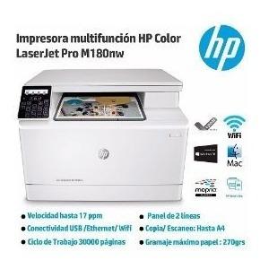 Impressora Hp Laserjet Pro M180nw 110v Multif. Pront Entrega