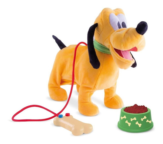 Pluto Walking Pelúcia Disney Multikids Mecanismo E Som